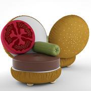Burger Armchair 3d model