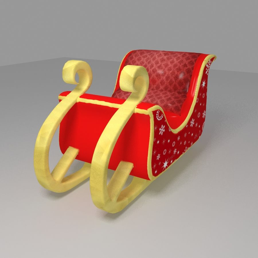 Trineo de santa royalty-free modelo 3d - Preview no. 5