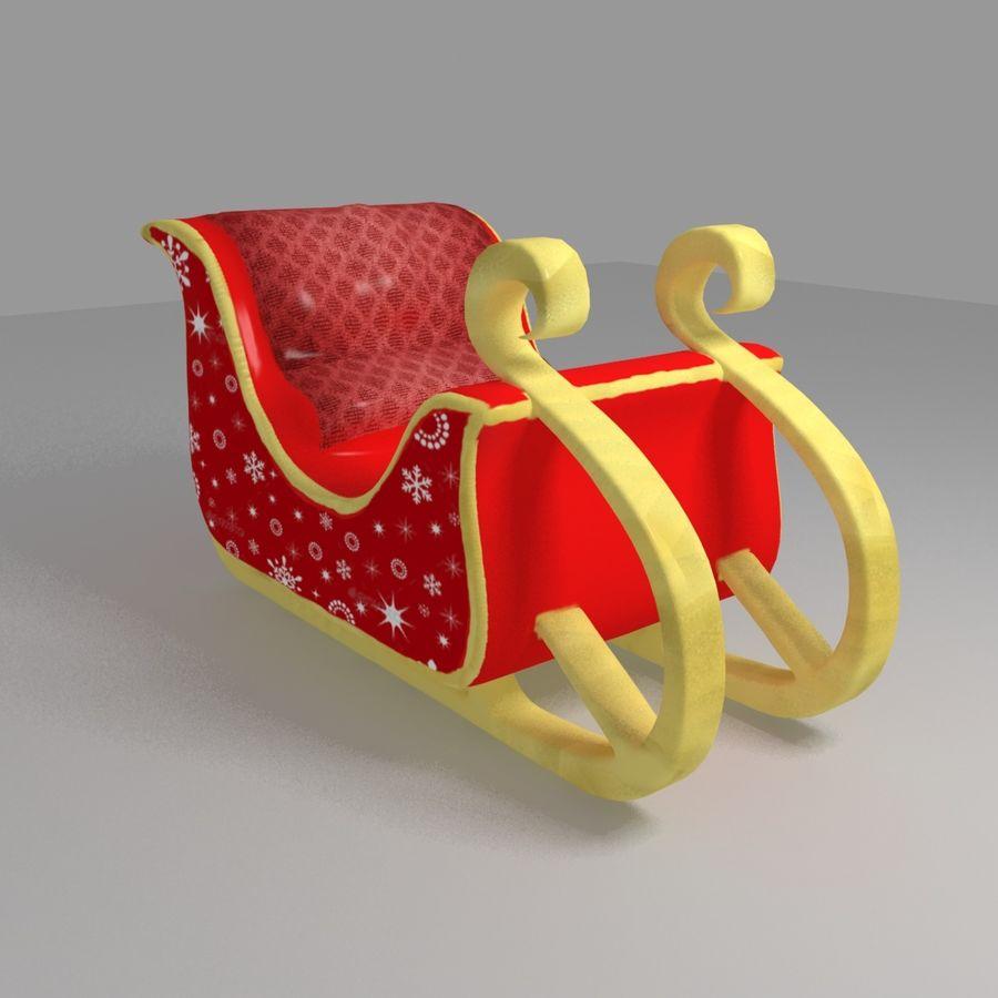 Trineo de santa royalty-free modelo 3d - Preview no. 4