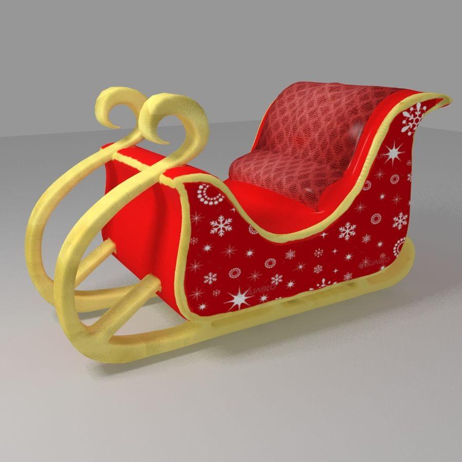 Trineo de santa royalty-free modelo 3d - Preview no. 2