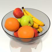 Fruits dans un bol 3d model