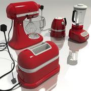 sprzęt kuchenny - czerwony 3d model