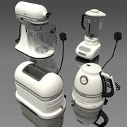 sprzęt kuchenny - biały 3d model