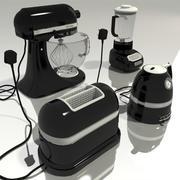 sprzęt kuchenny - czarny 3d model