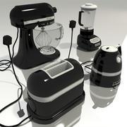 kitchen appliances - black 3d model