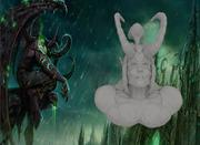 WOW Illidan Stormgrimm Head 3d model