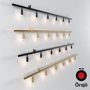 Star 6 by Jonas Bohlin, Orsjo / Lampa wisząca mosiądz i czerń 3d model