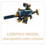 Assault Rifle Handgeschilderd 3d model