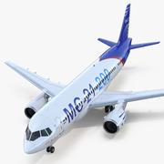 Twinjet Airliner MC 21-200 3d model