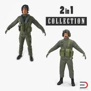 米軍パイロットコレクション 3d model