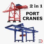 Coleção de modelos 3D Port Cranes 3d model