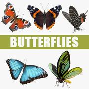 Коллекция 3D-моделей бабочек 3d model