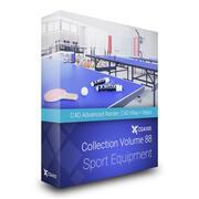 Équipement de sport Collection Modèles 3D Volume 88 C4D 3d model