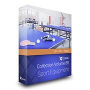 Équipement de sport Collection Modèles 3D Volume 88 FBX OBJ 3d model