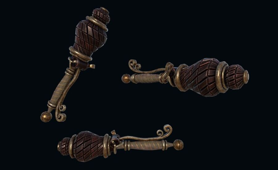 Pack d'armes Steampunk royalty-free 3d model - Preview no. 4