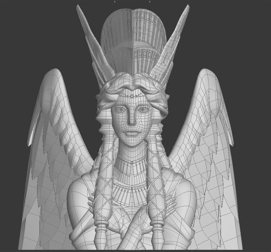 Statua anioła royalty-free 3d model - Preview no. 12
