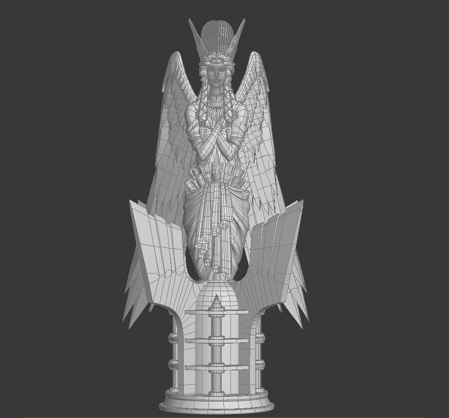 Statua anioła royalty-free 3d model - Preview no. 13