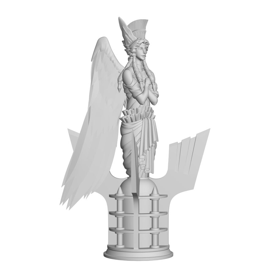 Statua anioła royalty-free 3d model - Preview no. 34