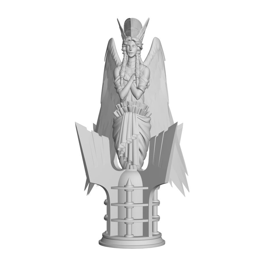 Statua anioła royalty-free 3d model - Preview no. 17