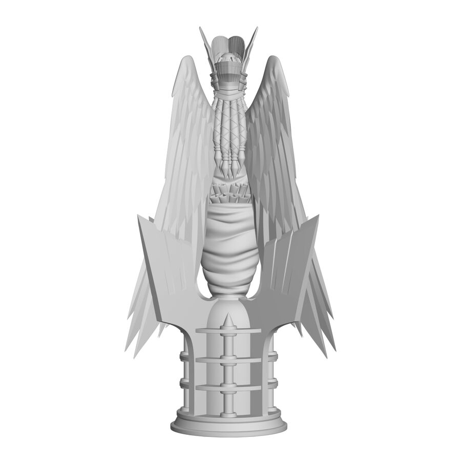 Statua anioła royalty-free 3d model - Preview no. 27