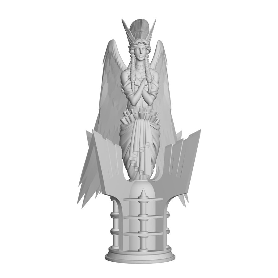 Statua anioła royalty-free 3d model - Preview no. 37
