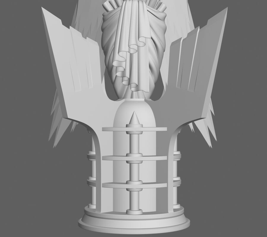 Statua anioła royalty-free 3d model - Preview no. 11