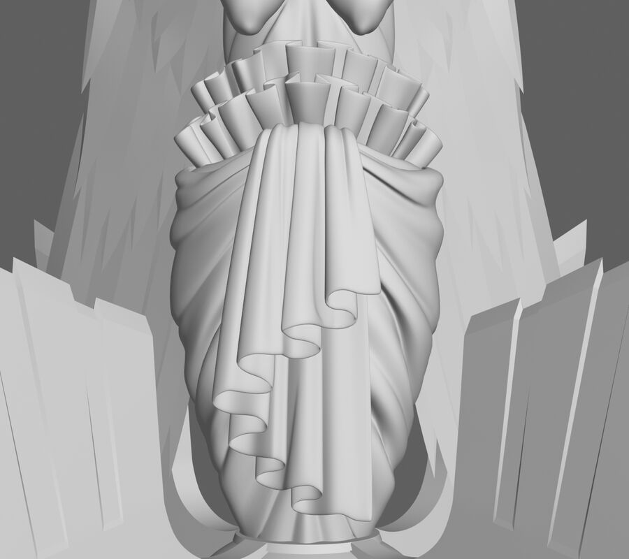 Statua anioła royalty-free 3d model - Preview no. 10