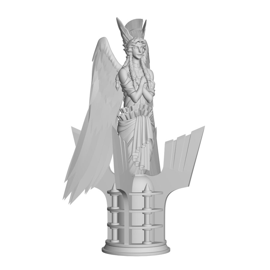 Statua anioła royalty-free 3d model - Preview no. 35
