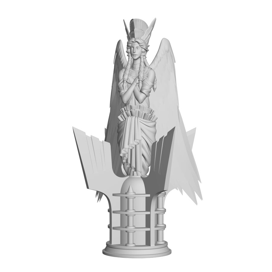 Statua anioła royalty-free 3d model - Preview no. 18
