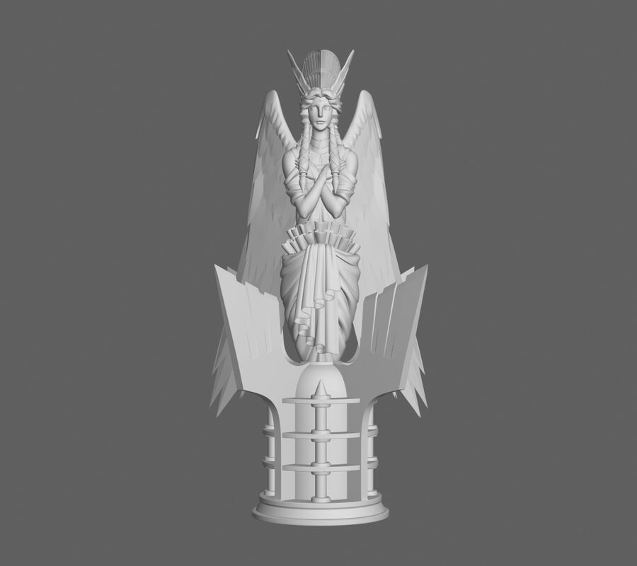 Engel status royalty-free 3d model - Preview no. 1