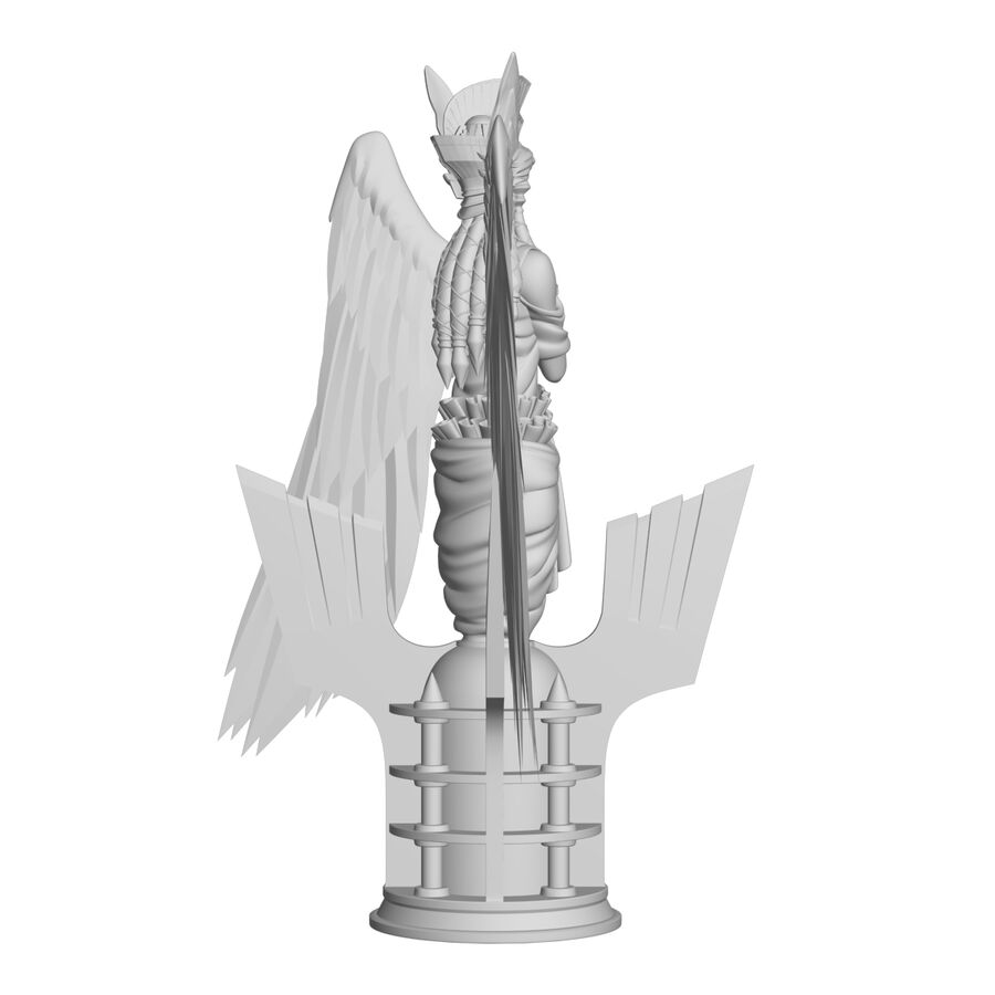 Statua anioła royalty-free 3d model - Preview no. 29