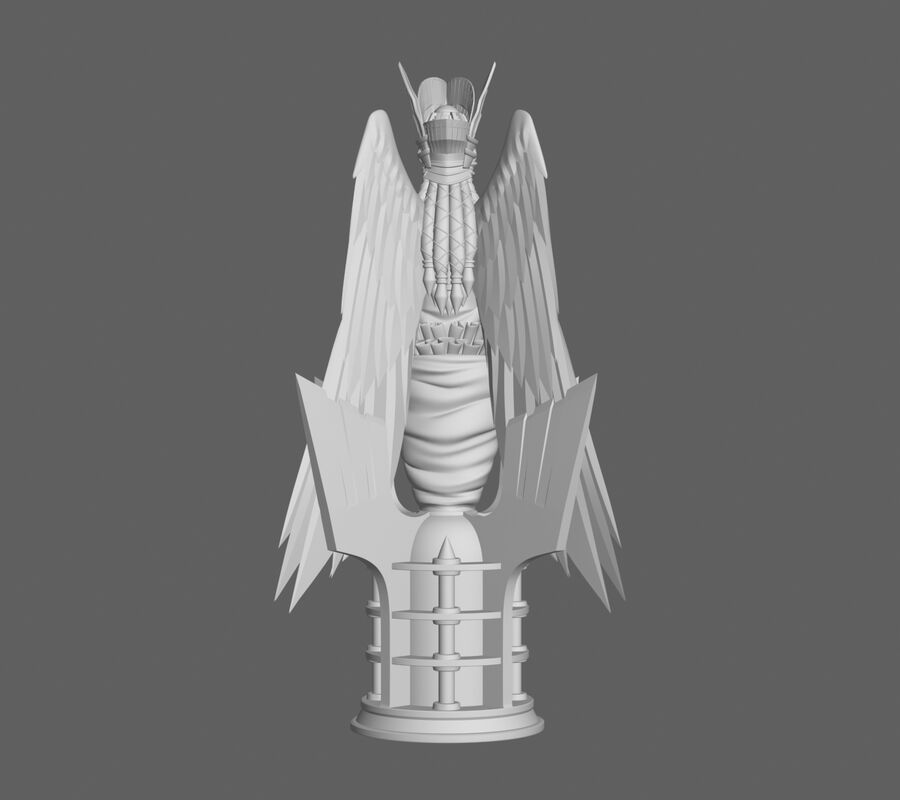 Engel status royalty-free 3d model - Preview no. 5