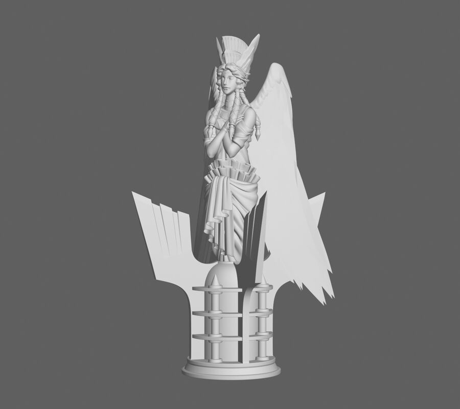 Statua anioła royalty-free 3d model - Preview no. 3
