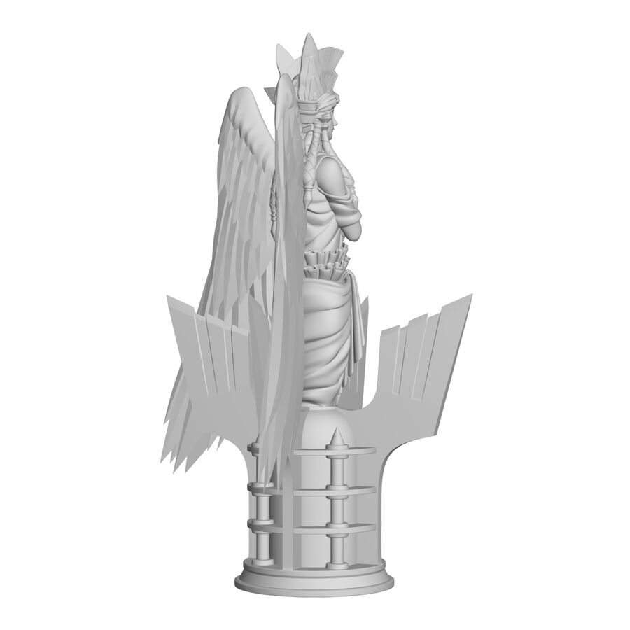 Statua anioła royalty-free 3d model - Preview no. 30