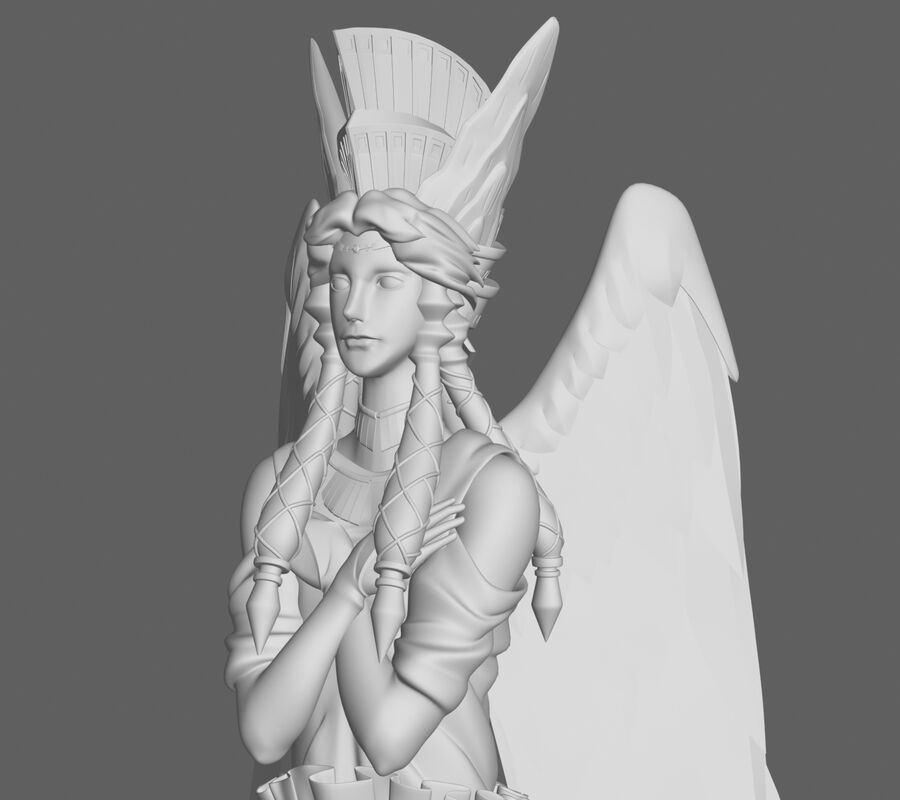 Statua anioła royalty-free 3d model - Preview no. 8