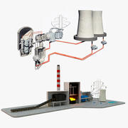 Diagramas de centrales eléctricas modelo 3d