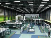 Fabriksinredning och utrustning 3d model