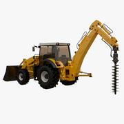 Traktorgrävare 3d model