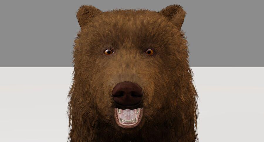 게임 준비가 된 곰 royalty-free 3d model - Preview no. 6