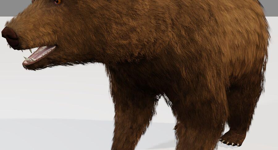 게임 준비가 된 곰 royalty-free 3d model - Preview no. 4