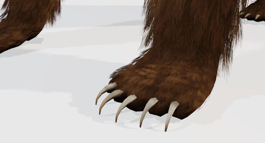 게임 준비가 된 곰 royalty-free 3d model - Preview no. 10