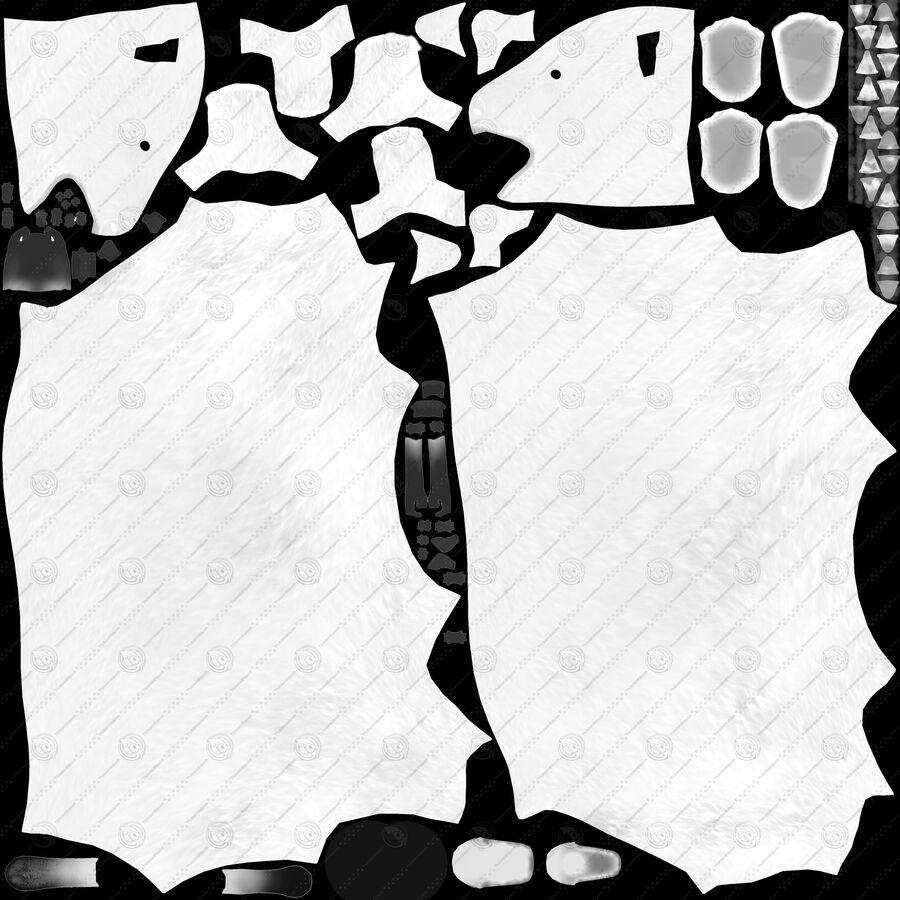 게임 준비가 된 곰 royalty-free 3d model - Preview no. 26