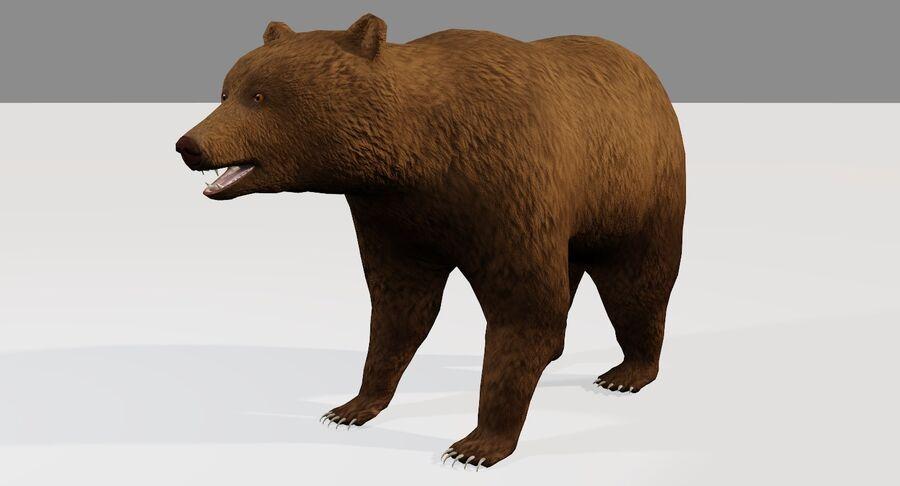게임 준비가 된 곰 royalty-free 3d model - Preview no. 3