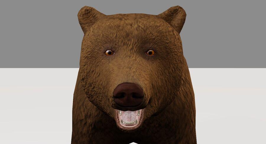 게임 준비가 된 곰 royalty-free 3d model - Preview no. 7