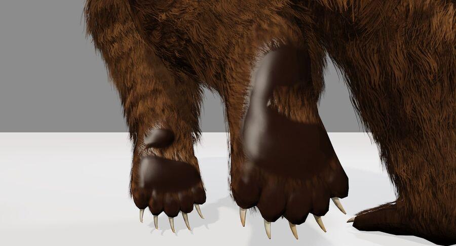 게임 준비가 된 곰 royalty-free 3d model - Preview no. 14