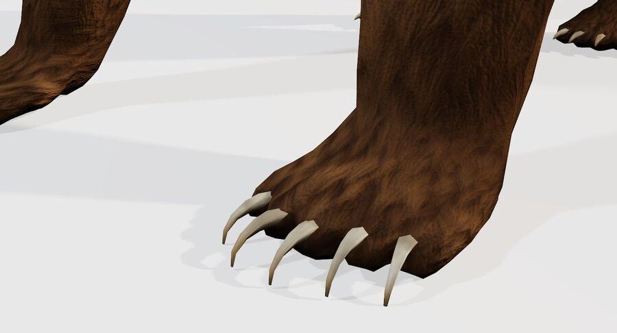게임 준비가 된 곰 royalty-free 3d model - Preview no. 11