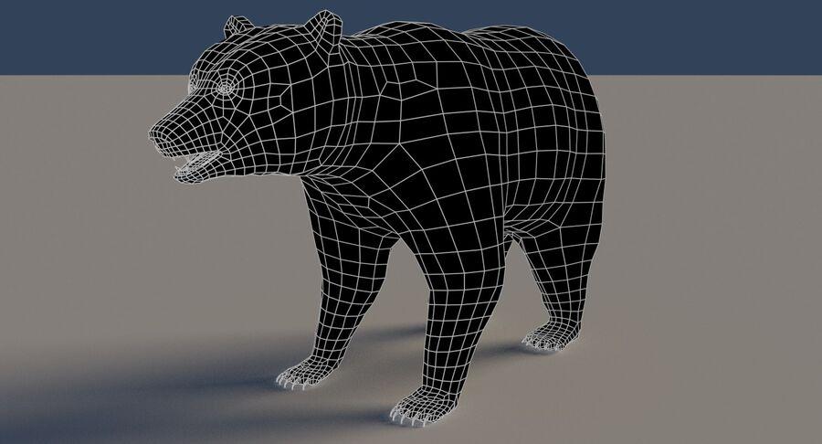 게임 준비가 된 곰 royalty-free 3d model - Preview no. 16