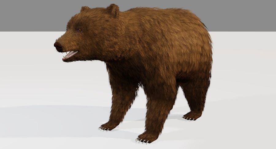게임 준비가 된 곰 royalty-free 3d model - Preview no. 2
