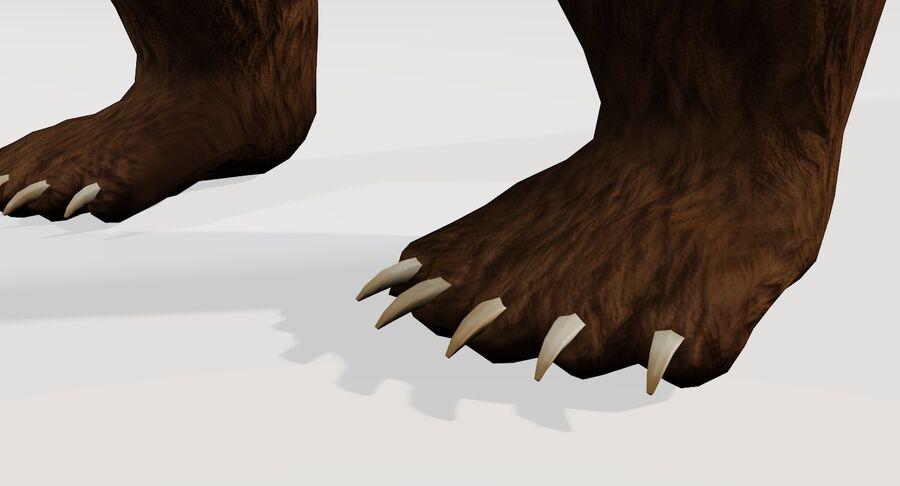 게임 준비가 된 곰 royalty-free 3d model - Preview no. 13