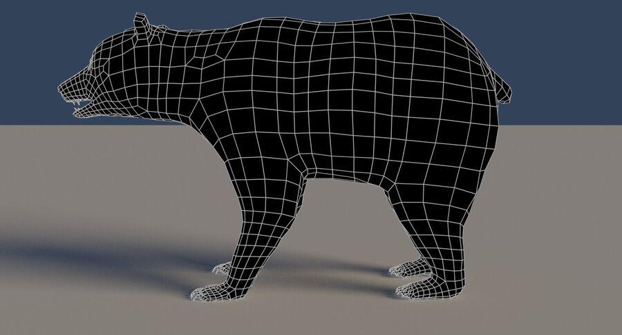 게임 준비가 된 곰 royalty-free 3d model - Preview no. 21